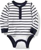 Old Navy 2-in-1 Striped Henley Bodysuit for Baby