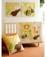 Pin It Amenity Nursery - Meadow Organic Crib Bedding