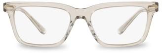 Oliver Peoples 52MM Rectangular Clear Lens Glasses