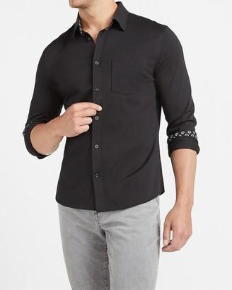 Express Slim Printed Cuff Soft Shirt