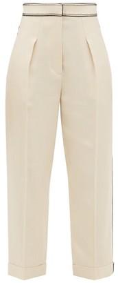 Peter Pilotto Pleated Grain-de-poudre Trousers - Ivory
