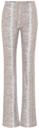 Acne Studios Printed high-rise bootcut pants