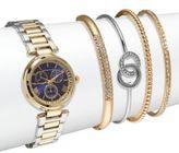 Adrienne Vittadini Crystal Bracelet Watch & Bangle Bracelet Set