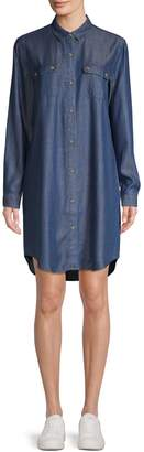 Lord & Taylor Petite Long-Sleeve Shirt Dress