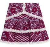 Alexis Novalie Macramé Lace Mini Skirt