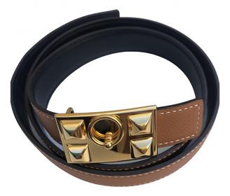 Hermes Collier de chien Brown Leather Belts