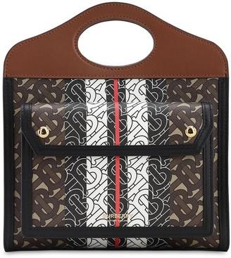 Burberry Mni Pocket Monogram Top Handle Bag