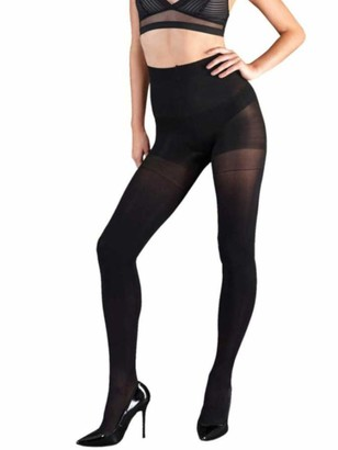 """Couture Shapers Bum Tum and Thigh Tights - 50 Denier (Large (42""""- 48"""") Black)"""