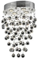Everly Deidamia 4 - Light Unique / Statement Empire Chandelier with Crystal Accents Quinn