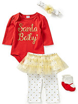 Starting Out Baby Girls Newborn-9 Months Christmas Santa Baby 4-Piece Layette Set