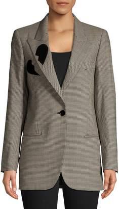 MSGM Houndstooth Wool-Blend Blazer