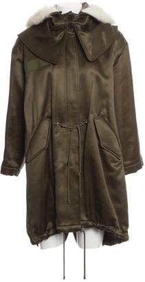 Alexander McQueen Khaki Wool Coats