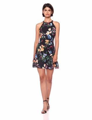 Parker Women's Bella Sleeveless high Neck Fitted Short Dress