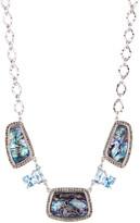 Judith Jack Sterling Silver Abalone & Swarovski Marcasite Necklace