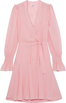 Iris & Ink Gabriella Wrap-effect Belted Chiffon Mini Dress