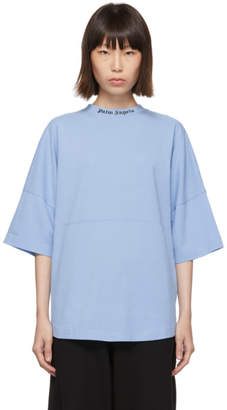 Palm Angels Blue Logo T-Shirt