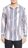Tommy Bahama Men's Big & Tall Brush Stroke Breezer Linen Sport Shirt