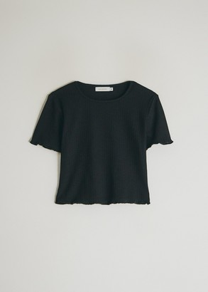 Which We Want Women's Bella Crop T-Shirt in Black, Size Small | Spandex