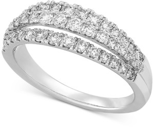 Forever Grown Diamonds Lab Created Diamond Three-Row Statement Ring (3/4 ct. t.w.) in Sterling Silver