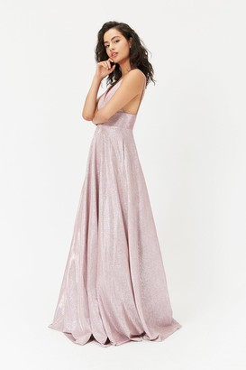 Coast Metallic Strappy Maxi Dress