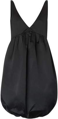 Burberry Duchess Satin Bubble Hem Dress