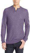 Vince Camuto Men's Notch Neck Long Sleeve Shirt