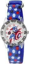 Marvel Captain America Kids' W002603 Captain America Analog Display Analog Quartz Blue Watch