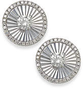 Macy's Diamond Shimmer Stud Earrings in 14k White Gold (1/6 ct. t.w.)