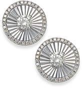 Macy's Diamond Shimmer Stud Earrings in 14k White Gold (1/6 ct. t.w.)