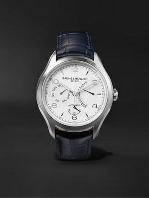 Baume & Mercier Clifton Automatic 43mm Stainless Steel And Alligator Watch, Ref. No. 10449