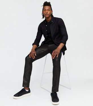 New Look Woven Metallic Trousers