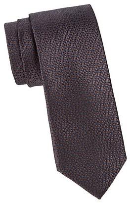 Canali Two-Tone Multi Silk Tie