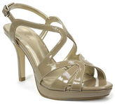 Tahari Balthasar Patent Leather Strappy Peep-Toe Sandals