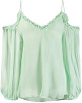Stella McCartney floaty cold-shoulder blouse