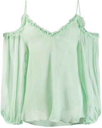 Stella McCartney Floaty Cold-Shoulder Blouse