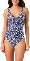 Liz Claiborne Mystique Cobalt One Piece Swimsuit