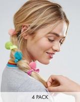 Asos Pack of 4 Pom Hair Ties