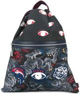 Kenzo 'Flying Tiger' drawstring backpack - men - Nylon/Leather - One Size