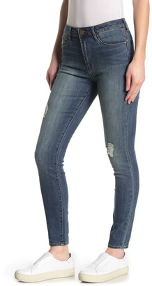 Articles of Society Hilary Distressed Mid Rise Skinny Jeans