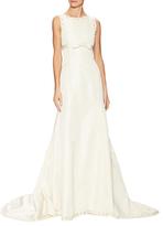 Oscar de la Renta Silk Sleeveless Bateau Neck Gown