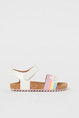 H&M Shimmering metallic sandals