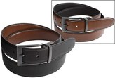 London Fog Reversible Leather Belt (For Men)