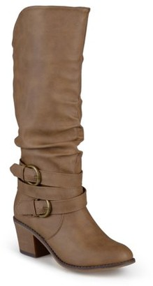 Brinley Co. Women's Slouch Buckle High Heel Boots