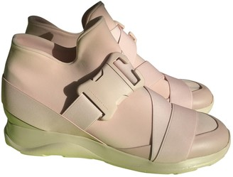 Christopher Kane Pink Leather Trainers