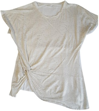 120% Lino Ecru Linen Top for Women
