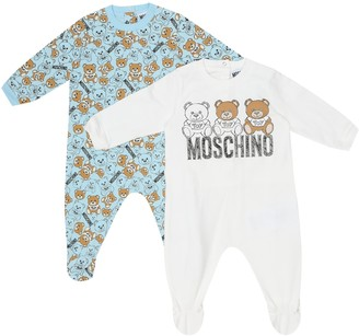 MOSCHINO BAMBINO Set of 2 stretch-cotton onesies