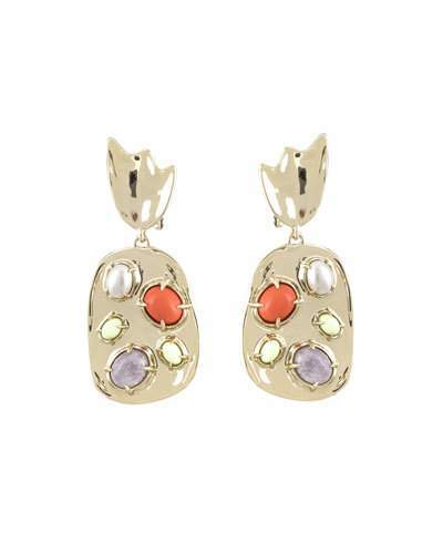 Alexis Bittar Sculpted Stone Cluster Clip-On Earrings