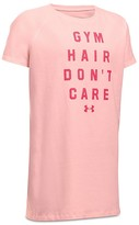 Under Armour Girls' Gym Hair Don't Care Tech Tee - Big Kid