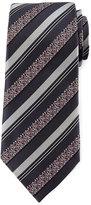 Ermenegildo Zegna Satin Floral Striped Tie, Gray