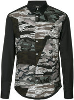 Anrealage camouflage panelled shirt